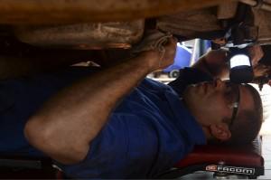 Performing Oil Truck Maintenance