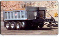 Extra payloads and profits with Clements 4 axle aluminum pup trialer.