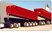Michigan Super Trains, quad-quad trailers with half round bodies