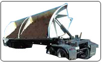 The innovative hauling system that dumps to either side of the trailer.